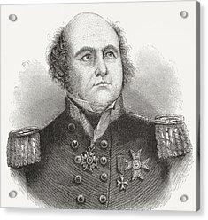 Rear-admiral Sir John Franklin, 1786 Acrylic Print