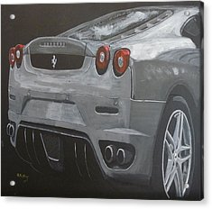 Acrylic Print featuring the painting Rear Ferrari F430 by Richard Le Page