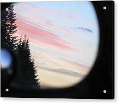 Rear View Sunset Sky Acrylic Print by Pamela Patch