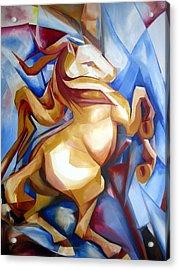 Rearing Horse Acrylic Print by Leyla Munteanu