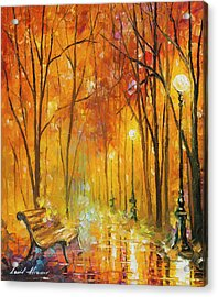 Reasons Of Autumn  Acrylic Print by Leonid Afremov