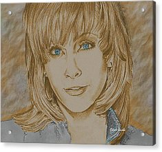 Reba Mcentire Acrylic Print by Carole Jacobs