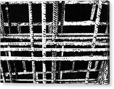 Rebar And Brick - Industrial Abstract Acrylic Print