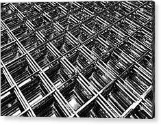 Rebar On Rebar - Industrial Abstract Acrylic Print