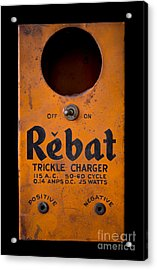 Rebat Vintage Automotive Battery Trickle Charger Acrylic Print by Edward Fielding