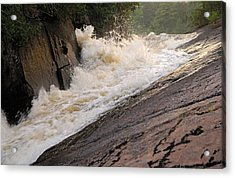 Rebecca Falls At Sunset Acrylic Print by Larry Ricker