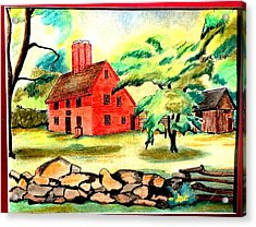 Rebecca Nurse Homestead Acrylic Print by Paul Meinerth