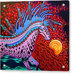 Acrylic Print featuring the painting Rebel Moon by Debbie Chamberlin