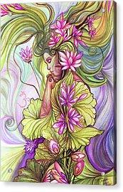 Rebirth With The Sacred Lotus Acrylic Print