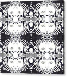 Recalling The Goddess 2 Tile Acrylic Print by Helena Tiainen