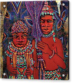 reCalling the Spirit Attendants with Paddles Acrylic Print