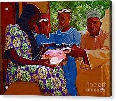 Receiving Gifts Acrylic Print by Deborah Selib-Haig DMacq
