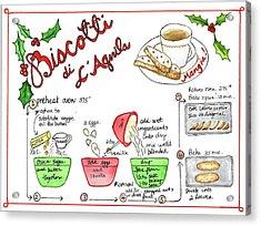 Recipe Biscotti Acrylic Print
