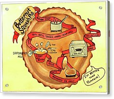 Recipe-butternut Squash Pie Acrylic Print