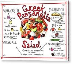 Recipe- Panzanella Salad Acrylic Print