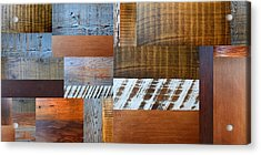 Reclaimed Wood Collage 4.0 Acrylic Print by Michelle Calkins