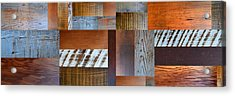 Reclaimed Wood Collage 5.0 Acrylic Print by Michelle Calkins