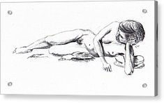 Reclining Drawing Model Acrylic Print