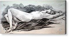 Reclining Figure Acrylic Print by John Smeulders