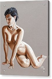 Reclining Figure Acrylic Print by Joseph Ogle