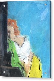 Reclining Girl Acrylic Print by Thomas Armstrong