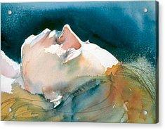 Reclining Head Study Acrylic Print