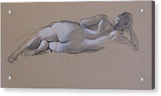 Reclining Nude 1 Acrylic Print by Robert Bissett