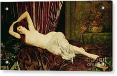 Reclining Nude Acrylic Print by Henri Fantin Latour
