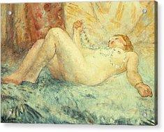 Reclining Nude Acrylic Print by Henri Lebasque