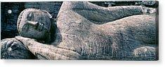 Reclining Stone Buddha Polonnaruwa, Sri Acrylic Print by Panoramic Images