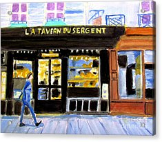Reconnoiter Parisian Stores In Your Dreams Acrylic Print by Stanley Morganstein