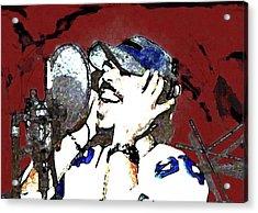 Recording Acrylic Print by LeeAnn Alexander