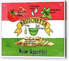 Recpe-bruschetta Acrylic Print