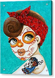 Acrylic Print featuring the painting Recuerdo De La Gitana by Al  Molina