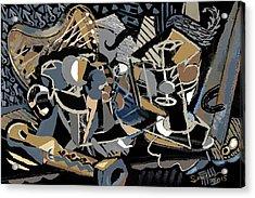 Acrylic Print featuring the digital art Recuerdos De Espana by Clyde Semler