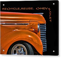 Recycle Acrylic Print by Kevin  Sherf