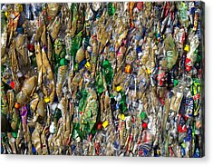 Recycled Plastic Bottles Acrylic Print by David Buffington