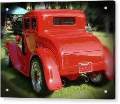 Red - Many Parts - Hot Rod Acrylic Print