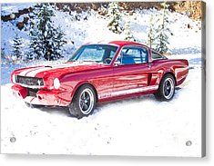 Red 1966 Ford Mustang Shelby Acrylic Print by James BO  Insogna
