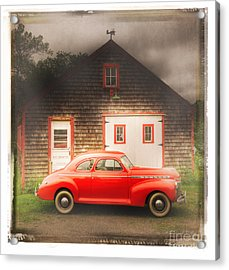 Acrylic Print featuring the photograph Red 41 Coupe by Craig J Satterlee