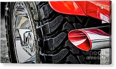 Acrylic Print featuring the photograph Red 4x4 by Brad Allen Fine Art