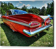 Red '59 Impala 001 Acrylic Print by Lance Vaughn