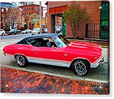 Red 68-69 Chevelle Ss 396 Acrylic Print