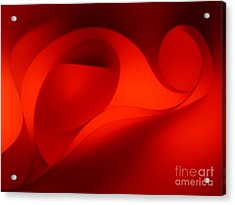 Red Abstract 4 Acrylic Print