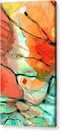 Red Abstract Art - Decadence - Sharon Cummings Acrylic Print