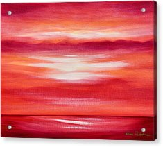 Red Abstract Sunset Acrylic Print