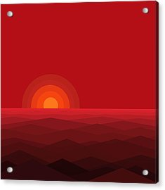 Red Abstract Sunset II Acrylic Print