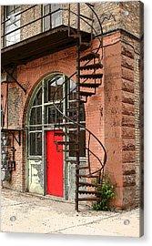 Red Alley Door Acrylic Print