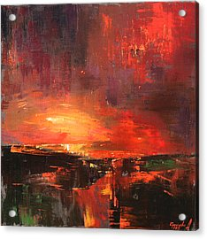 Acrylic Print featuring the painting Red by Anastasija Kraineva