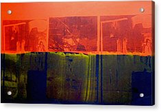 Red And Blue Acrylic Print by David Studwell